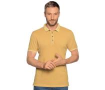 Kurzarm Poloshirt senfgelb