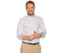 Business Hemd Regular Fit weiß/blau/gelb