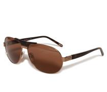 Sonnenbrille gold/braun
