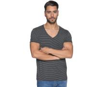 Kurzarm T-Shirt schwarz/weiß