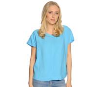 Kurzarm Blusenshirt blau
