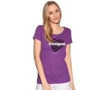 Kurzarm T-Shirt lila