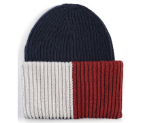 Mütze blau/rot/offwhite