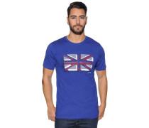 Kurzarm T-Shirt royalblau