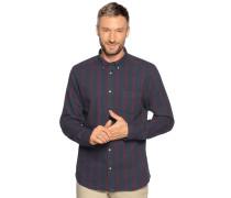 Langarm Hemd Regular Fit dunkelblau/rot