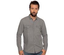 Langarm hemd Slim Fit grau