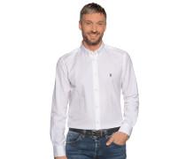 Langarm Hemd Regular Fit weiß