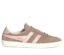Sneaker taupe/rosa