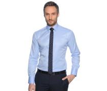 Hemd Slim Fit + Krawatte hellblau