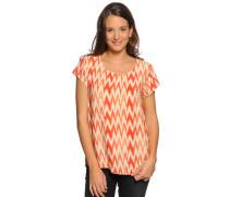 Kurzarm Blusenshirt orange/offwhite