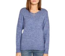 Pullover blau meliert