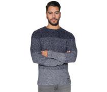 Pullover mit Rundhalsausschnit navy/grau