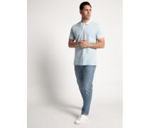 Kurzarm Poloshirt Regular Fit hellblau