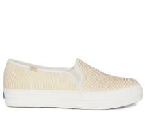 Slipper weiß/gold
