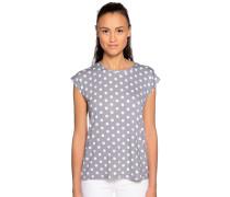 Kurzarm T-Shirt grau/weiß