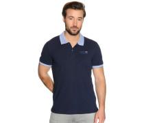 Kurzarm Poloshirt navy