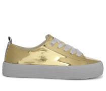 Sneaker gold/weiß