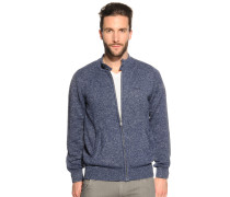 Strickjacke navy meliert