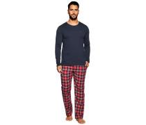 Pyjama rot/navy