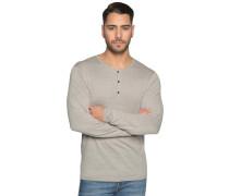 Pullover mit Leinen grau meliert