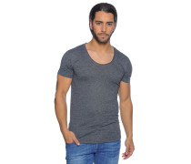 Kurzarm T-Shirt anthrazit meliert