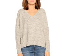 Pullover grau/beige meliert