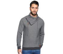 Sweatshirt mit Tubekragen grau