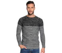 Pullover, grau/schwarz