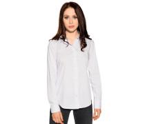 Langarm Bluse weiß/blau