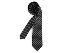 Krawatte schwarz/silber gestreift