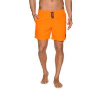 Badeshorts, Orange, Herren