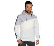 Sweatshirt grau meliert/hellblau