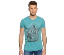 Kurzarm T-Shirt türkis