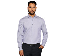 Business Hemd Custom Fit violett/weiß