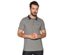 Kurzarm Poloshirt grau meliert