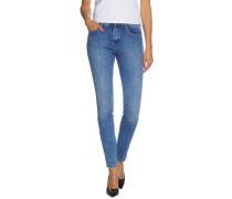 Jeans High Skinny blau