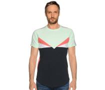 Kurzarm T-Shirt navy/grün