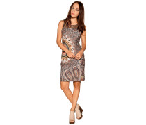 Kleid braun/mehrfarbig