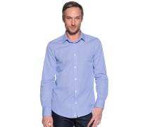 Langarm Hemd Slim Fit blau/weiß