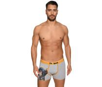 Boxershorts grau/gelb