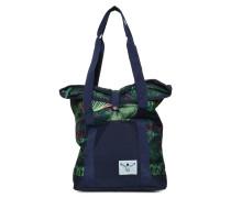 Shoppertasche navy/grün