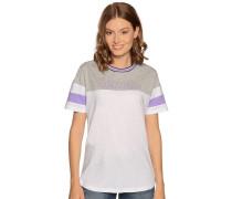Kurzarm T-Shirt grau meliert/weiß