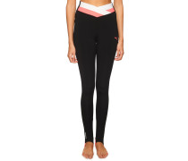 Sport-Leggings schwarz/rosa