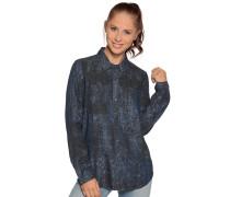 Langarm Bluse blau/schwarz