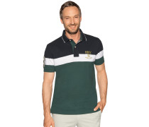 Kurzarm Poloshirt navy/weiß/grün
