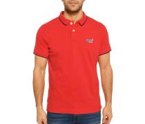 Kurzarm Poloshirt rot