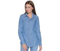 Jeansbluse, blau