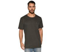Kurzarm T-Shirt grün/anthrazit