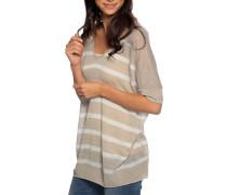 Strickshirt beige/weiß