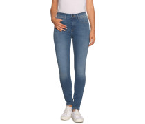 Jeans High Skinny Retro blau